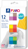 Fimo Soft-sada 12 barev x25g effect Leather