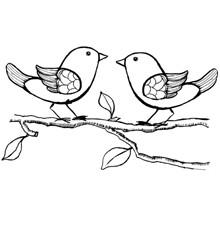 Ptáčci dva-silikonové gelové razítko 1ks   www.ko-hobby.cz