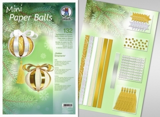 MINI Paper Balls-papír.koule 12ks GOLDEN
