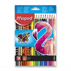 Pastelky 18 ks trojhranné Maped Color´Peps Animals