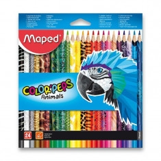 Pastelky 24ks trojhranné Maped Color´Peps Animals